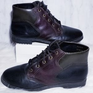 #219 Combat Ankle Boots Black Moto Green Maroon 5
